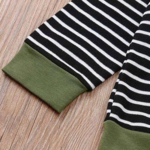 2pcs Clothes Set Toddler Infant Baby Boys Girls Hooded Sweatshirt Striped Tops Pockets Camouflage Pants 0-3T (Camouflage, 3T(2-3 Years)) by Aritone - Baby Clothes (Image #5)