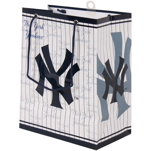 MLB New York Yankees Gift Bag, Medium (Mlb Medium Gift Bag)