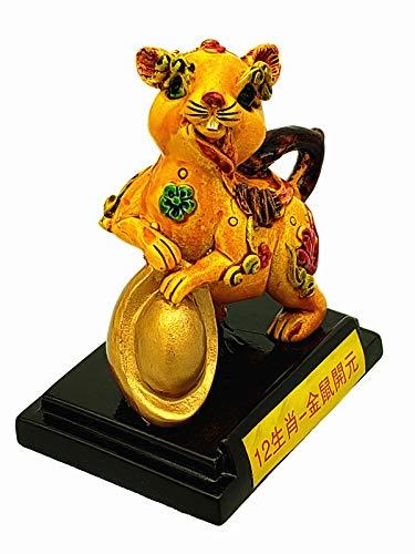 Feng Shui Chinese 12 Zodiac Figurine Statue Decorative Ornament (Rat)
