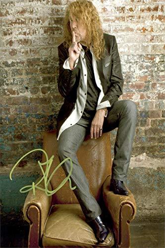 (Robert Plant Autograph Replica Super Print - Portrait - Unframed)