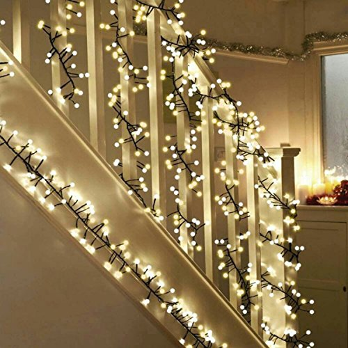 Decorative Lights, TOFU 10ft 400 LED Globe Fairy String Lights for Outdoor Indoor Bedroom Garden Patio Backyard Christmas Tree Party Wedding Decorations(8-function, Warm-White)