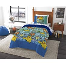 Pokemon First Starters Twin Bed in a Bag Bedding Set- Comes with Comforter, Pillowcases and Sheets