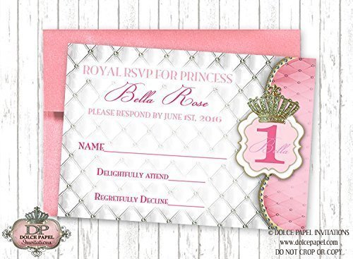 Amazon 10 Rsvp Cards Diamond Pink Princess Diamonds And Pearls