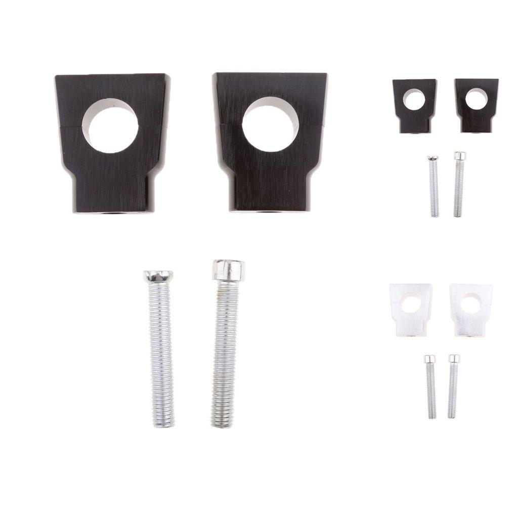 Baoblaze Universel Pince Support Riser Pince Fixation De Guidon De Moto 22mm 7//8 Noir