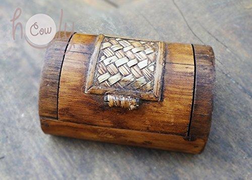 Amazon.com: Small Hand Carved Bamboo Box: Handmade