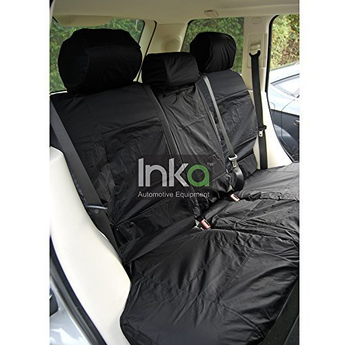 Inka INK-WSC-3559 Fully Tailored Waterproof Rear Seat Cover Set Black
