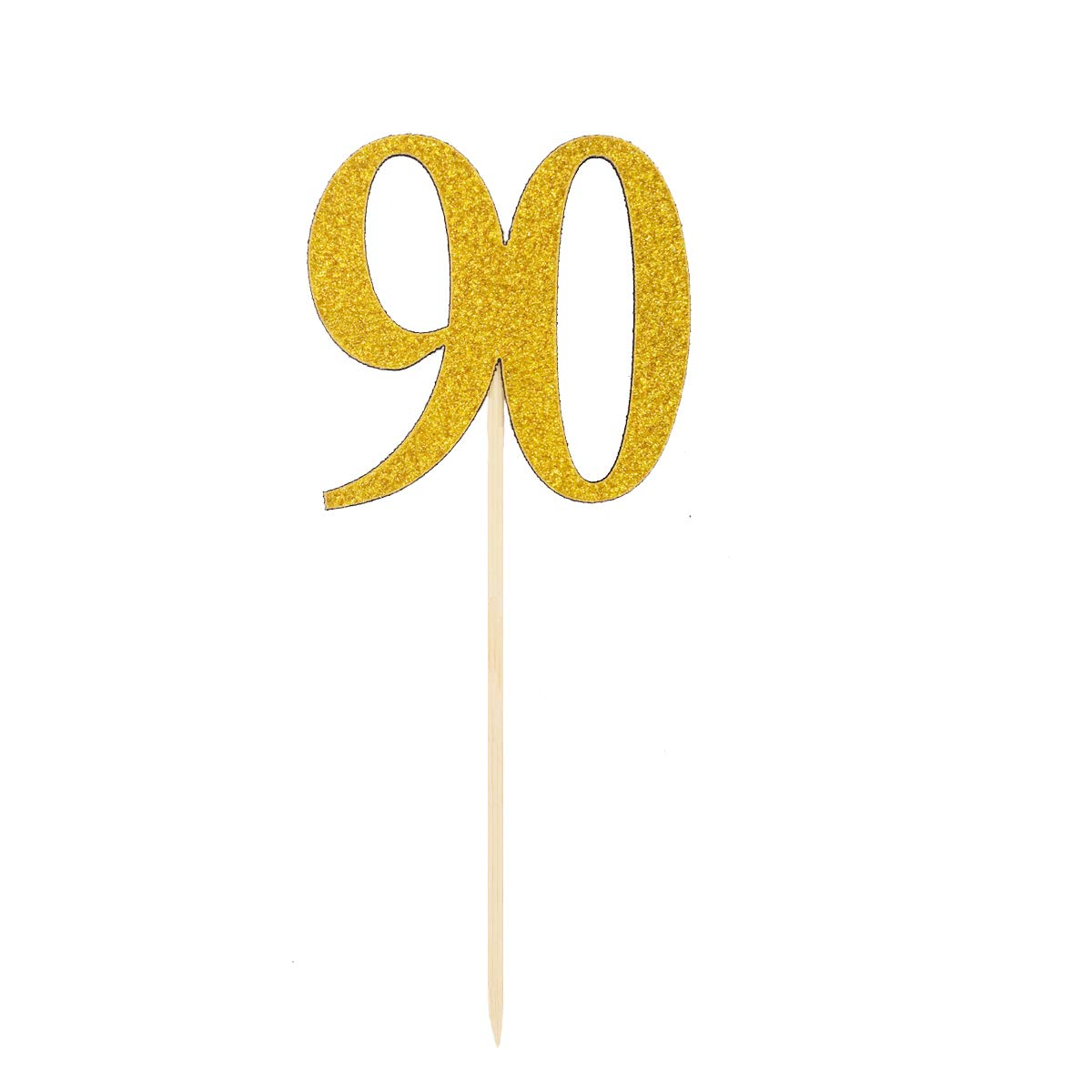 Party Supplies Art & Craft Supplies JANOU Number 90 Gold Glitter Cake Topper Cupcake Picks Cake Decoration 90s Birthday Anniversary Wedding Party Suppliers Pack 12pcs