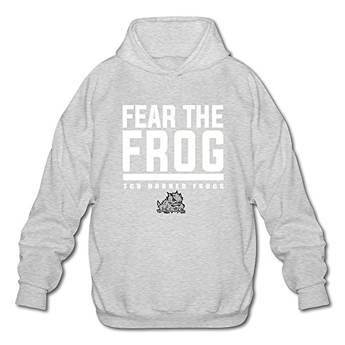 Agongda Man NCAA Texas Christian University TCU Horned Frogs Logo Hoodie XXL Ash