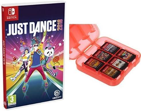 Just Dance 2018 + Funda para almacenamiento de juegos (Rojo ...