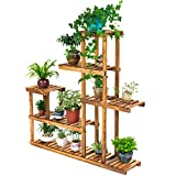 Multi-layer Assembly Of Solid Wood Flower Rack, Balcony Pots Display Stand, Indoor And Outdoor Plant Shelves