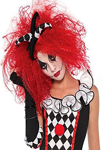 [Clown Wig Sexy Ghost Witch Demon Wigs Halloween Cosplay Costumes Props Unisex] (Circus Sweetie Wig)