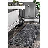 nuLOOM Lefebvre Braided Indoor/Outdoor Rug, 8' 6' x 11' 6', Light Grey