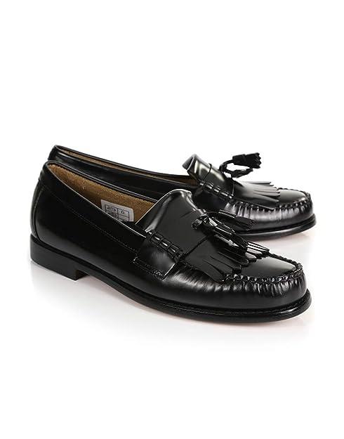 G.H. Bass - Mocasines de Piel Para Hombre Negro Negro 300x420mm, Color Negro, Talla 45: Amazon.es: Zapatos y complementos