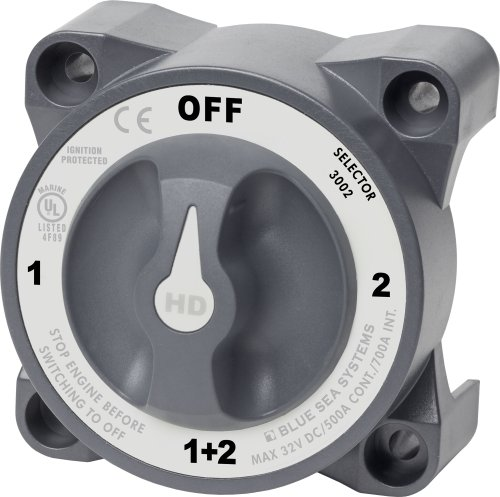 Blue Sea Systems Battery Switch (Blue Sea Systems 3002 HD-Series Battery Switch Selector)