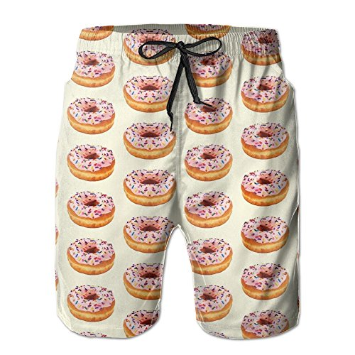Hot FERNANDO HUNG Doughnut Men's Yoga Boardshort Soft Short Swimming Beach Pants Surf Sweatpant Trousers With Pockets free shipping