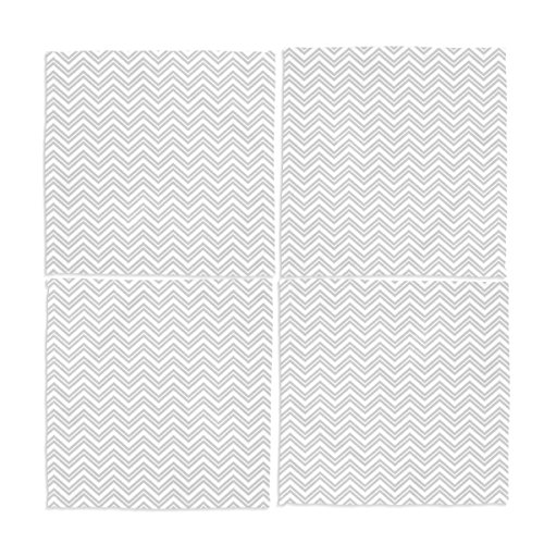 Ye Store Design Custom 4 Pieces Grey White Chevron Cloth Napkins 12x12x4(in) (Napkins And White Paper Chevron Grey)