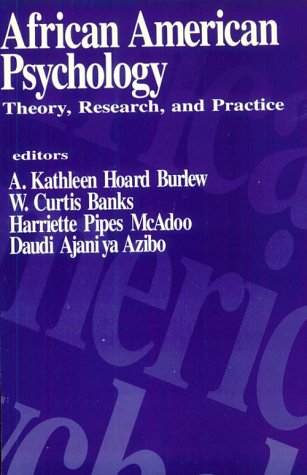African American Psychology: Theory, Research, and Practice