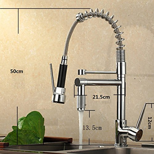 VDOMUS Single Handle Pullout Spray Kitchen Faucet with Sp...