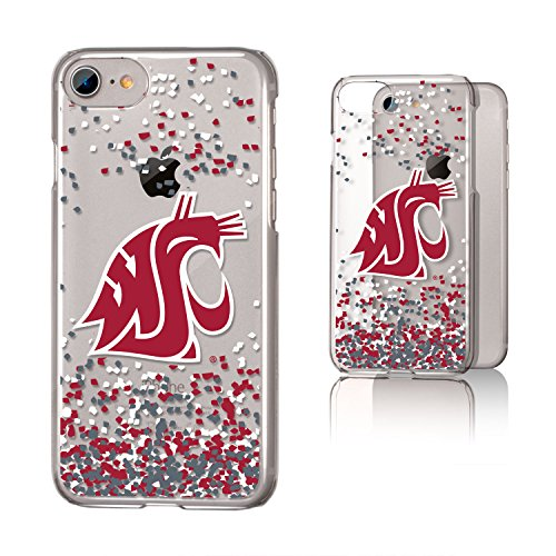 Keyscaper KCLRI7-0WST-FETTI1 Washington State Cougars iPhone 8/7 Clear Case WSU Confetti ()