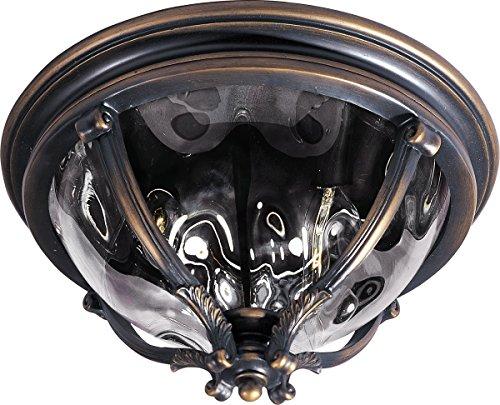- Outdoor Wall Sconces 3 Light Bulb Fixture with Golden Bronze Finish Viex Material Medium Bulbs 16 inch 180 Watts