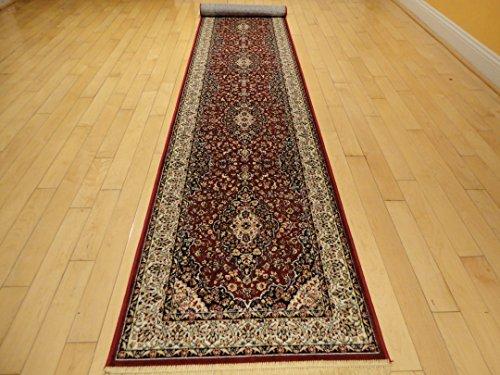 (Silk Red Rug Persian Area Rugs Traditional Rug Living Room Accent Rug 2x8 Rug 5x8 Rugs 2x8 Hallway Runner Rug Soft Silk Shiny Rug 2x7 Runner Carpet (2'x8' Hallway Runner))
