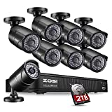 ZOSI 1080p PoE Security Camera System, 8 Channel NVR Recorder with (8) 2.0 Megapixel 1920x1080p Surveillance PoE Camera Bullet Outdoor/Indoor,100ft Long Night Vision (2TB Hard Drive Built-in) For Sale