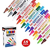 ZEYAR Paint Pens, 18 Colors, Medium Point, Permanent & Waterproof ink, Expert of Rock Painting, Oil-Based, Great on Mug, Rock, Glass, Canvas, Metal and more