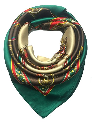 YOUR SMILE Silk Like Scarf Women's Fashion Pattern Large Square Satin Headscarf Headdress carriage (3)