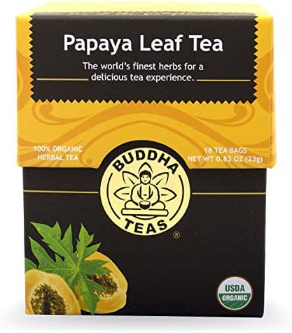 Buddha Teas Papaya Leaf Tea, 18 Count (Pack of 6)