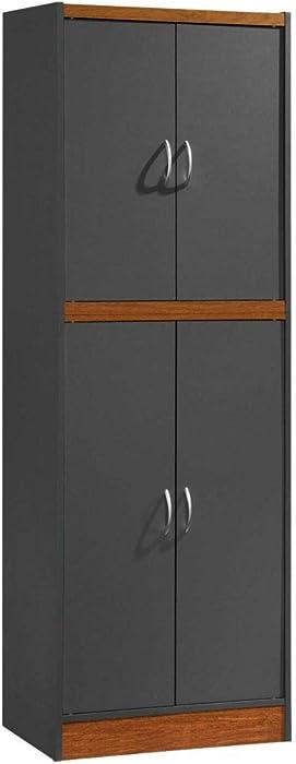 Hodedah 4-Door 4-Shelves, 5-Compartments Kitchen Pantry