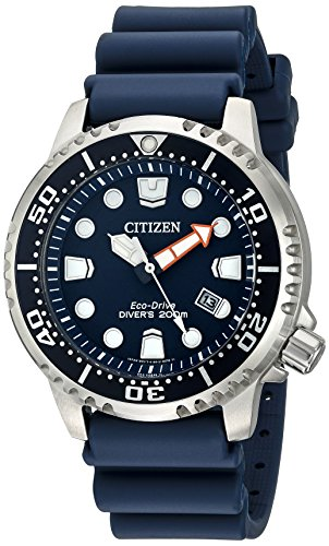 Rubber Wrist Watch Titanium - Citizen Men's Eco-Drive Promaster Diver Watch With Date, BN0151-09L