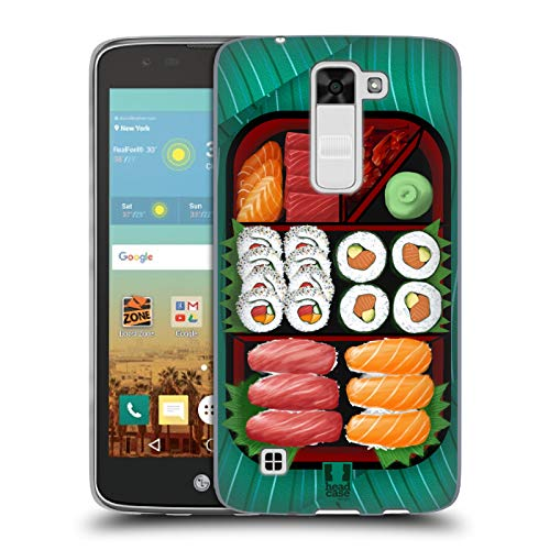 Head Case Designs Sushi Sampler Oriental Food Soft Gel Case for LG K7 K330 / Tribute 5