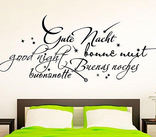Wandtattoo-Günstig G018 Schlafzimmer Wort Gute Nacht in vielen ...