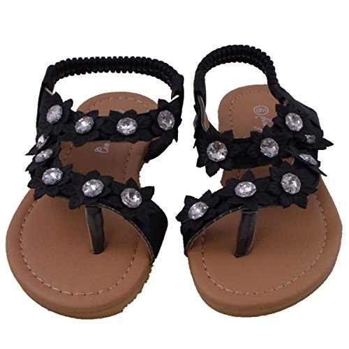 Blancho Bedding Sandals Black Sumer Infant Girl US8 by Blancho Bedding