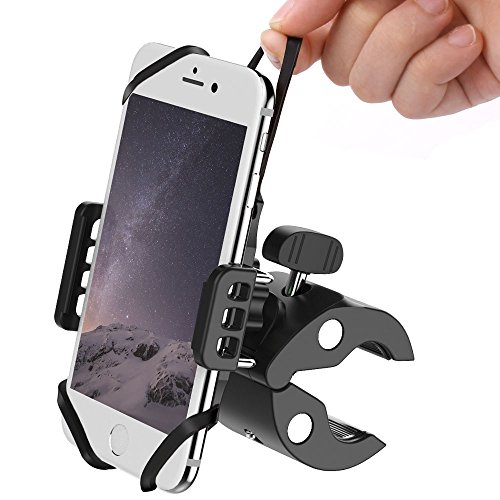 MEIDI Bike & Motorcycle Cell Phone Mount Baby Stroller Phone Holder Universal ATV Mountain Bicycle Handlebar Cradle Holder for iPhone X,8,7 Plus,6S Plus,Samsung Galaxy Android Smartphones and GPS by MEIDI