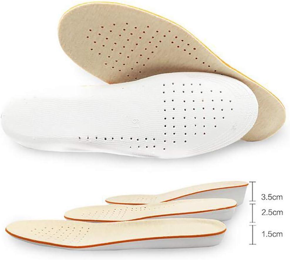 Tukistore Aumentar la Plantilla de Altura 1.5cm / 2.5cm / 3.5cm Transpirable Alta Completa Zapato Aumento de Almohadillas para Cojines Interiores Plantilla Invisible Tacones para Hombres Mujeres