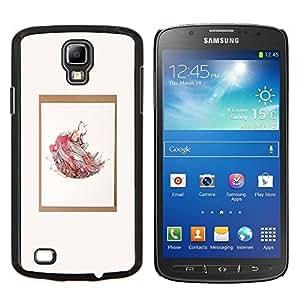 Acuarela Naturaleza minimalista del cartel- Metal de aluminio y de plástico duro Caja del teléfono - Negro - Samsung i9295 Galaxy S4 Active / i537 (NOT S4)