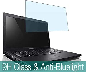 "Synvy Anti Blue Light Tempered Glass Screen Protector for Lenovo Ideapad G505 G505S 15.6"" Visible Area 9H Protective Screen Film Protectors"