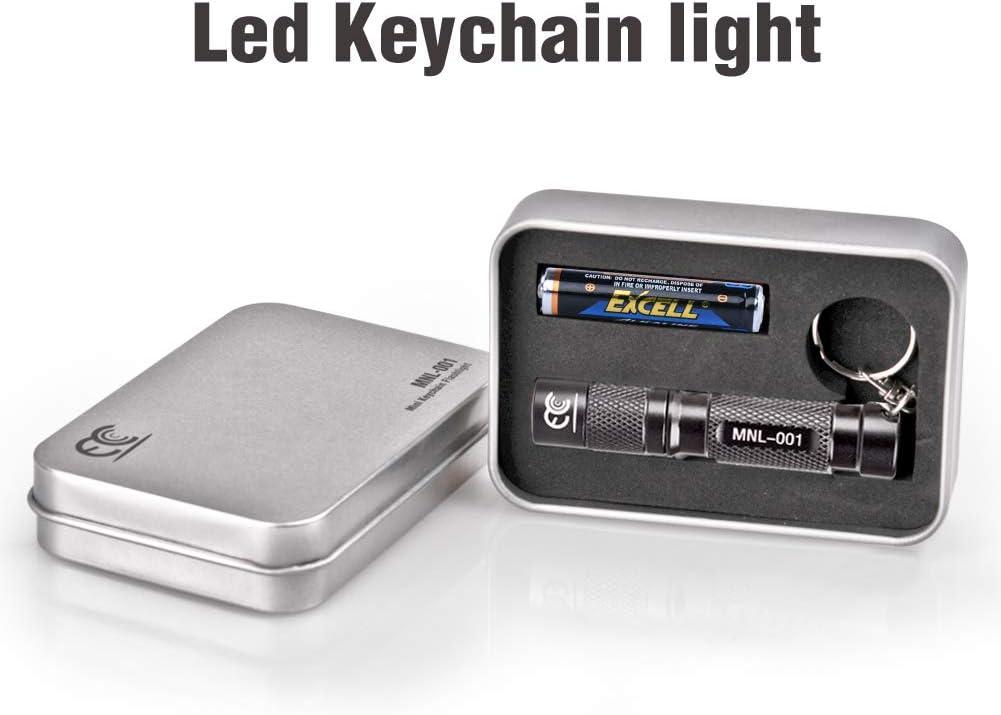 Pocket Size CREE LED Torch EDC Portable Emergency Light Black MCCC Mini Aluminum Led Ley Keychain Flashlight