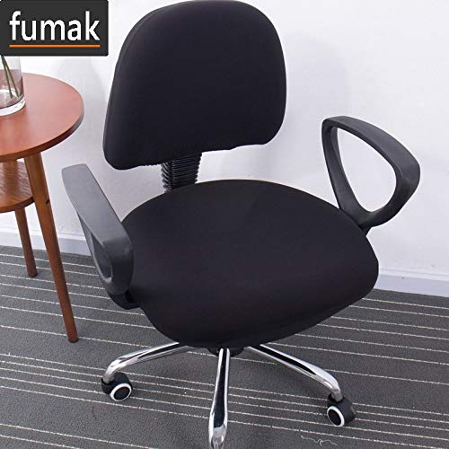 Chair Slipcover - 2 pcs/Set New Printing Stretch Spandex Chair Cover for Computer Seat Anti-Dirty Removable Slipcovers Office Chair Seat Cover (8) (Slipcovered Chairs Club)