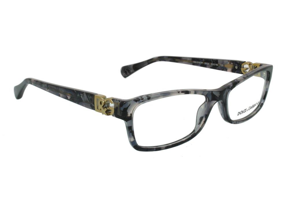 Dolce & Gabbana Women's Designer Eyewear, Grey Marble/Demo Lens, 51-16-000
