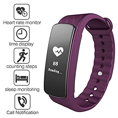 Fitness Tracker Gosund C8 Smart Bracelet with Heart Rate Monitoring and Pedometer Call SMS Reminder