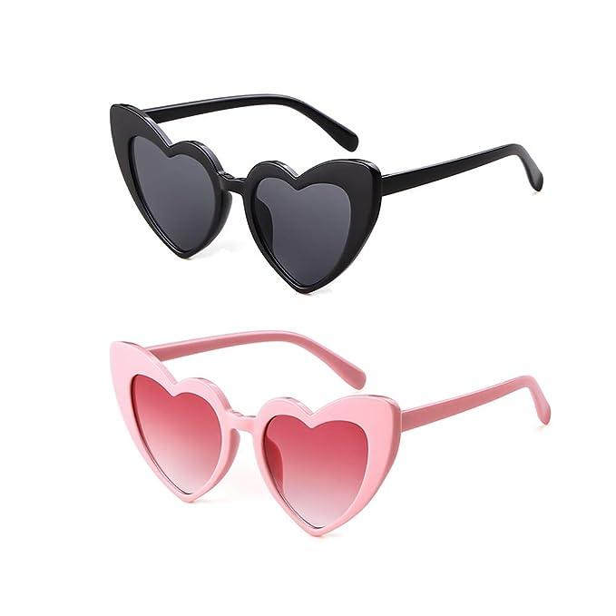 0de498aaf96b Retro Vintage Clout Goggle Heart Sunglasses Cat Eye Mod Style for Women  Kurt Cobain Glasses Plastic