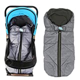 Lemonda Winter Outdoor Tour Waterproof Baby Infant Universal Stroller Sleeping Bag Warm Footmuff Sack,Anti-Kicking Sleeping Nest,Wearable Stroller Blanket (Grey)