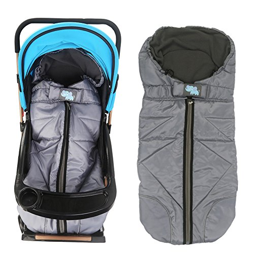 (Lemonda Winter Outdoor Tour Waterproof Baby Infant Stroller Sleeping Bag Warm Footmuff Sack,Anti-Kicking Sleeping Nest,Wearable Stroller Blanket (Grey))