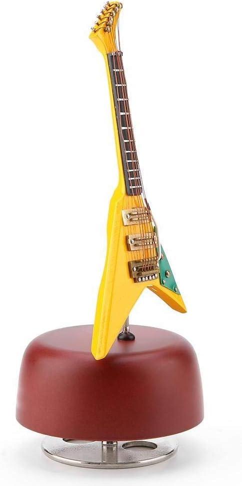 L.L.QYL La Caja de música Miniatura Guitarra clásica Caja de ...