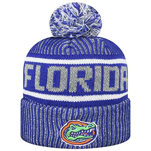 Top of the World Men's NCAA Glacier Cuffed Knit Beanie Pom Hat-Florida Gators ()