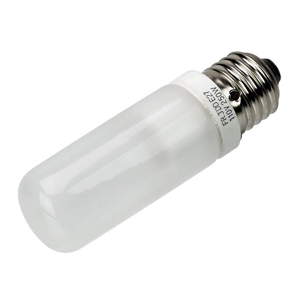 Fotodiox JDD Type 250w 110v E26/E27 (Standard Edison Screw) Frosted Halogen Light Bulb, Universal Replacement Modeling Bulb for Photo Studio Strobe Lighting