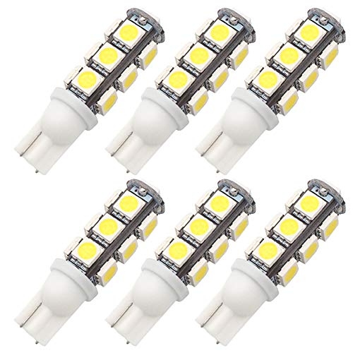 Lamp Replacement Auto - GRV T10 921 194 13-5050 SMD Wedge LED Bulb lamp Super Bright Cool White DC 12V Pack of 6