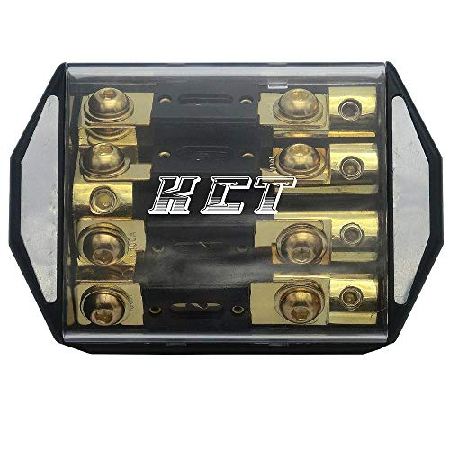 IN-LINE ANL FUSE HOLDER 4 WAY 1x0GA-4x4GA WITH FUSE DISTRIBUTION BLOCK STEREO/AUDIO/CAR by KCT